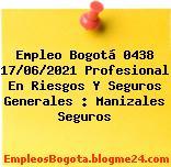 Empleo Bogotá 0438 17/06/2021 Profesional En Riesgos Y Seguros Generales : Manizales Seguros