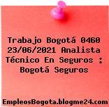 Trabajo Bogotá 0460 23/06/2021 Analista Técnico En Seguros : Bogotá Seguros