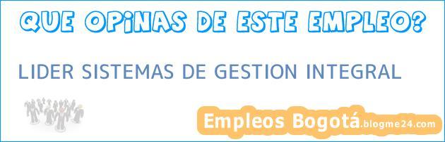 LIDER SISTEMAS DE GESTION INTEGRAL