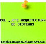 COL _JEFE ARQUITECTURA DE SISTEMAS