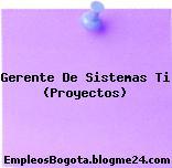 Gerente De Sistemas Ti (Proyectos)