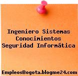 Ingeniero Sistemas Conocimientos Seguridad Informática