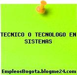 Tecnico O Tecnologo En Sistemas