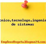 Tecnico,tecnologo,ingeniero de sistemas