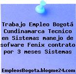 Trabajo Empleo Bogotá Cundinamarca Tecnico en Sistemas manejo de sofware Fenix contrato por 3 meses Sistemas