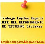 Trabajo Empleo Bogotá JEFE DEL DEPARTAMENTO DE SISTEMAS Sistemas