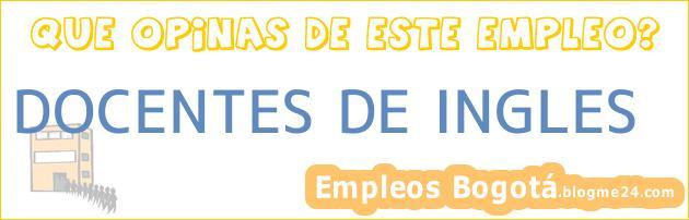 DOCENTES DE INGLES