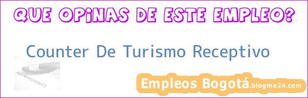 Counter De Turismo Receptivo