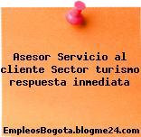 Asesor Servicio al cliente Sector turismo respuesta inmediata