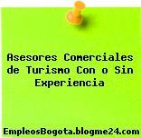 Asesores Comerciales de Turismo Con o Sin Experiencia