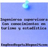 Ingenieroa supervisora Con conocimientos en turismo y estadística
