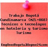 Trabajo Bogotá Cundinamarca (MZL-868) Tecnicos o tecnologos en hoteleria y turismo Turismo