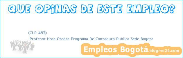 (CLR-483) | Profesor Hora Ctedra Programa De Contadura Publica Sede Bogota