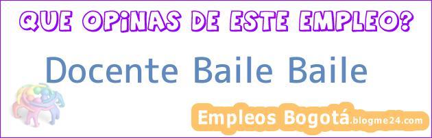 Docente Baile Baile