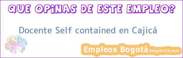 Docente Self contained en Cajicá