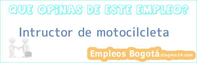 Intructor de motocilcleta