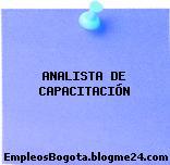 ANALISTA DE CAPACITACIÓN