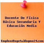 Docente De Física Básica Secundaria Y Educación Media