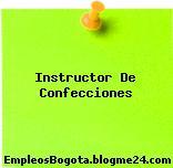 Instructor De Confecciones