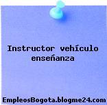 Instructor – Vehículo Enseñanza