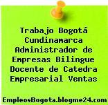 Trabajo Bogotá Cundinamarca Administrador de Empresas Bilingue Docente de Catedra Empresarial Ventas