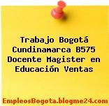 Trabajo Bogotá Cundinamarca B575 Docente Magister en Educación Ventas