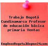 Trabajo Bogotá Cundinamarca Profesor de educación básica primaria Ventas