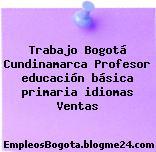 Trabajo Bogotá Cundinamarca Profesor educación básica primaria idiomas Ventas