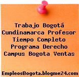 Trabajo Bogotá Cundinamarca Profesor Tiempo Completo Programa Derecho Campus Bogota Ventas