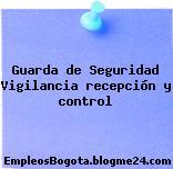 Guarda de Seguridad Vigilancia recepción y control
