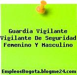 Guardia Vigilante Vigilante De Seguridad Femenino Y Masculino