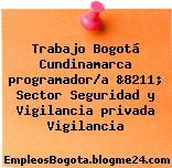 Trabajo Bogotá Cundinamarca programador/a &8211; Sector Seguridad y Vigilancia privada Vigilancia
