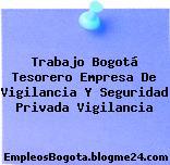 Trabajo Bogotá Tesorero Empresa De Vigilancia Y Seguridad Privada Vigilancia