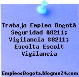 Trabajo Empleo Bogotá Seguridad &8211; Vigilancia &8211; Escolta Escolt Vigilancia